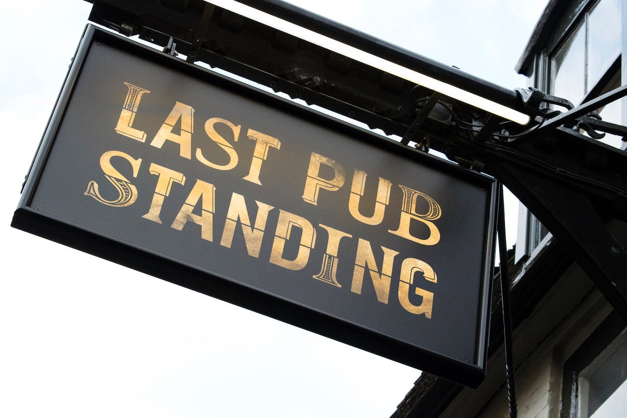 Last Pub Standing sign copy