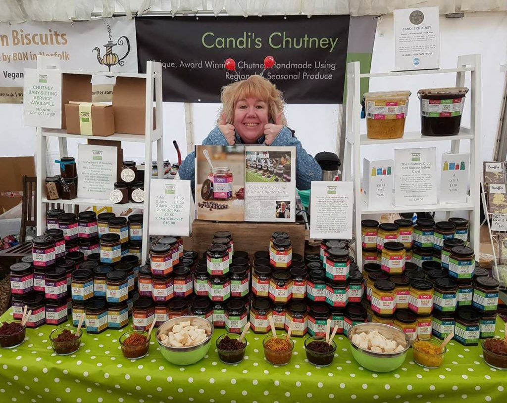 Candi on her stall