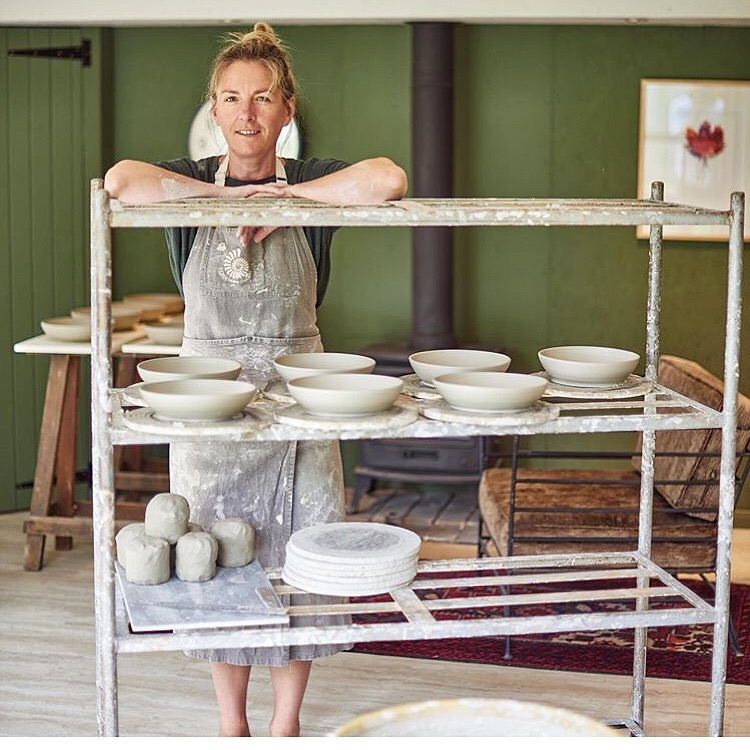 Gill in her pottery