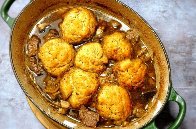beef casserole with dumplings