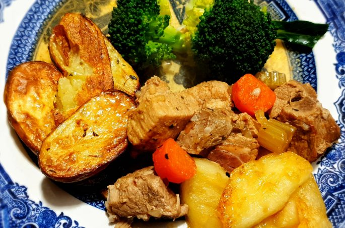 Pork and cider casserole