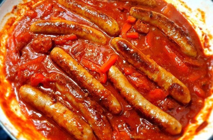 sausage and chorizo stew