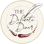 The Delicate Diner logo food writing recipes reviews interviews