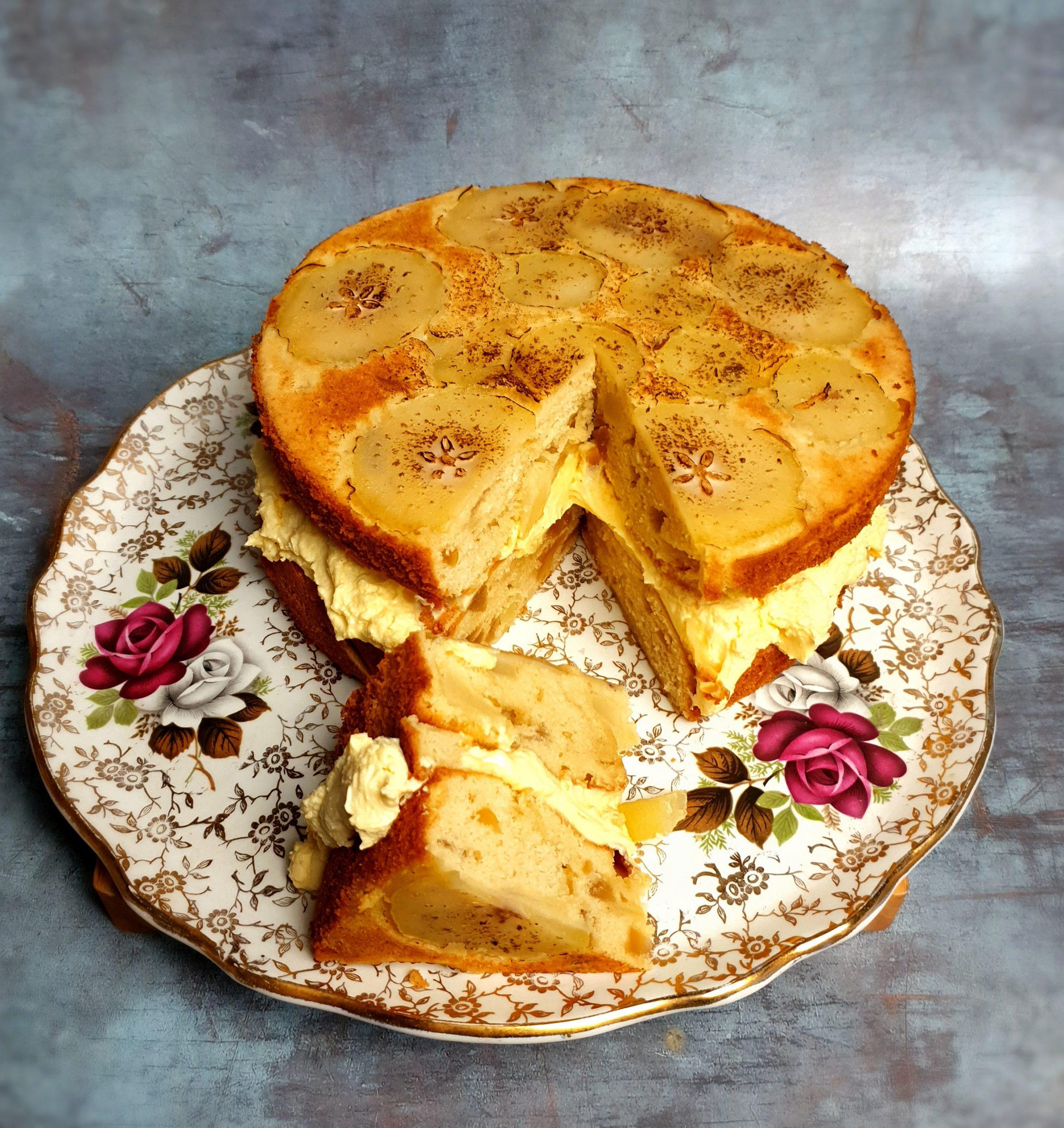 pear and ginger cake vanilla mascarpone